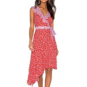 Parker Jennifer Floral Color-Block Dress